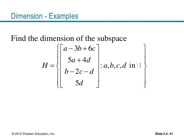 how to find the dimension of a subspace