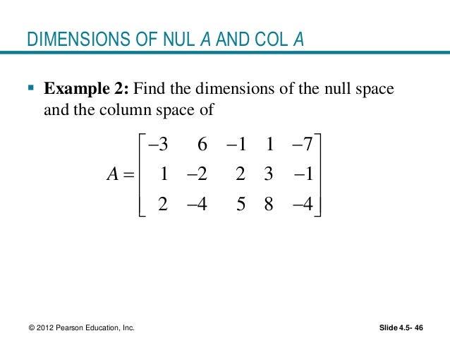 how to find the basis of a null space