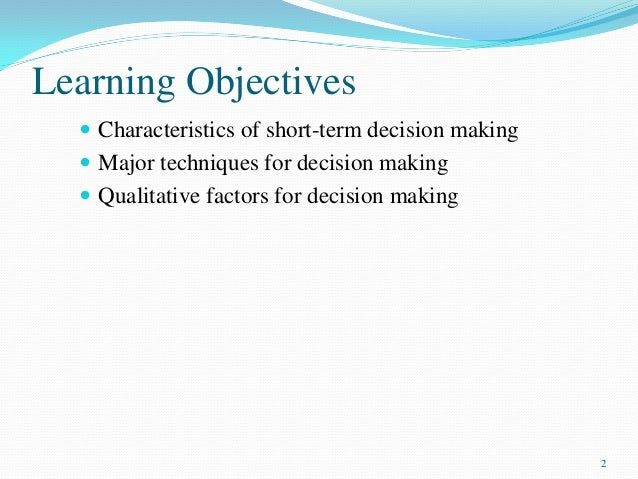Short Term Objectives : Pgbm mba financial management and control