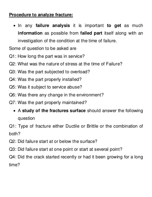 an analysis of failure Pumps: failure modes and ways to investigate the cause aiche clearwater convention 2009 dr j rgen weinerth analysis: original data sheet compare the provided information analysis of the duty point step 4: analysis of the information.