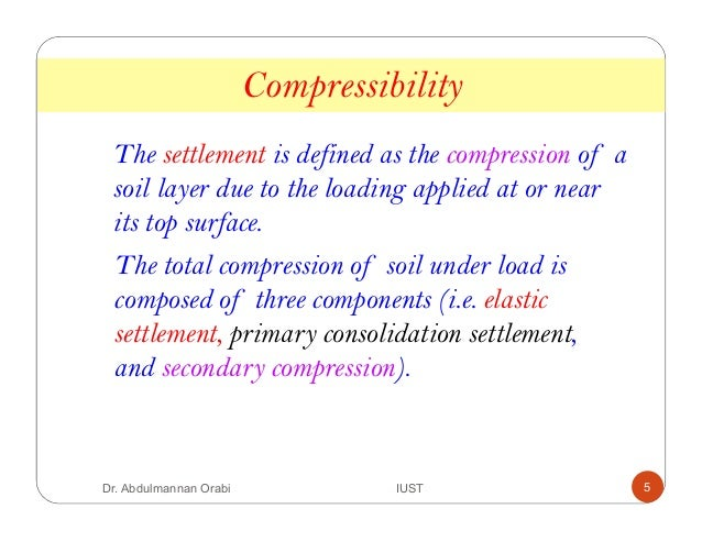 Lecture 8 consolidation and compressibility for Four main components of soil
