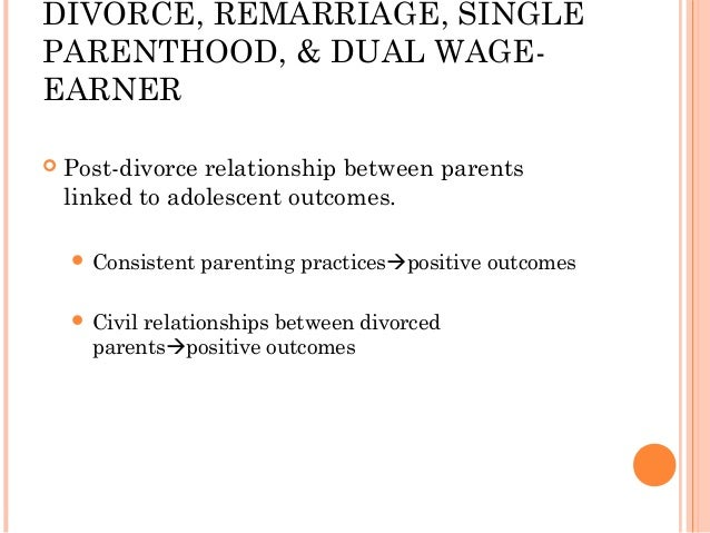Post Divorce Relationships Children