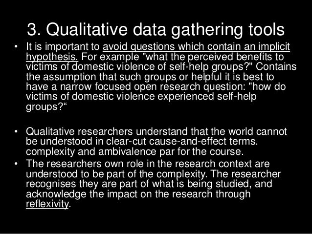 data gathering tool thesis Data collection is a way to describe a process of preparing and collection   officer which related to the second objective of this dissertation.