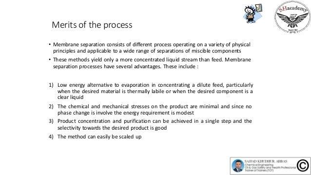 Episode 65 :  Membrane separation processes Slide 3