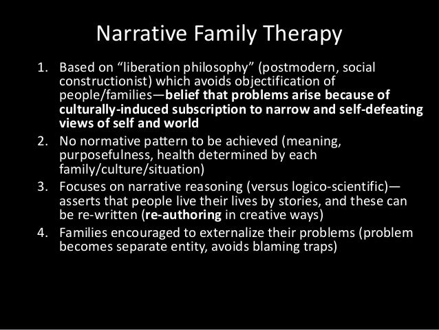 family therapy essay The multigenerational family therapy was originally developed murray bowen in this mode of family therapy, bowen emphasized on the.