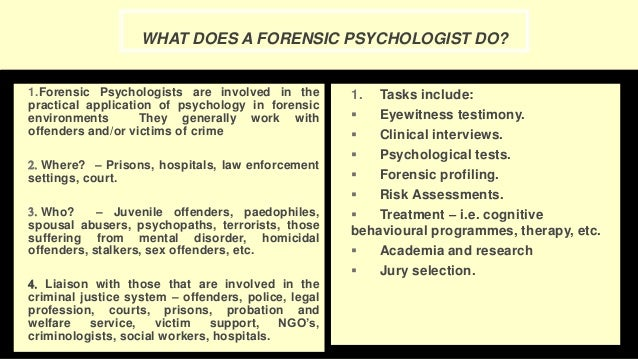 What Do Forensic Scientists Do,  American Academy of.