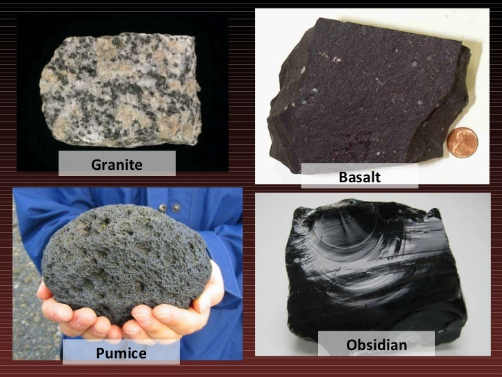 Basalt And Granite : Lecture rocks