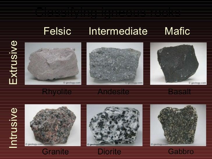 Granite Vs Basalt : Lecture rocks