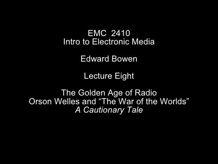 <ul><li>EMC  2410 </li></ul><ul><li>Intro to Electronic Media </li></ul><ul><li>Edward Bowen </li></ul><ul><li>Lecture Eig...
