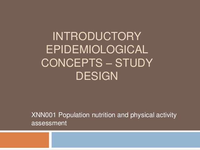 Epidemiological studies : Reviews