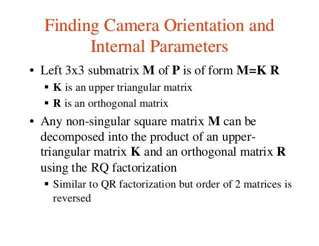 Lecture9 camera calibration