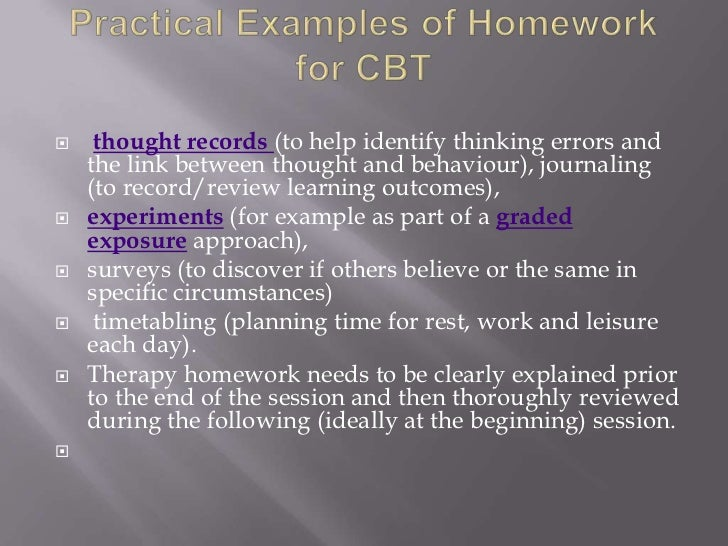 cbt homework assignments