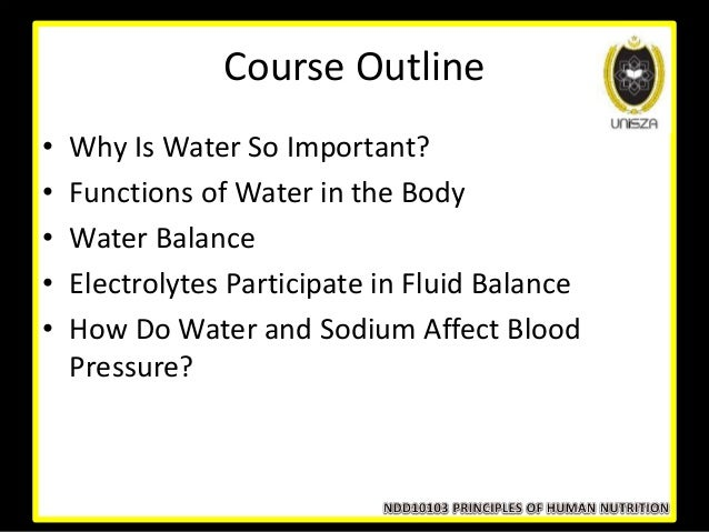 Lecture 9 Nutrients Involved In Fluid And Electrolyte Balance