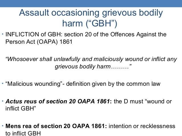 charge of assault occasioning actual bodily harm abh Assault occasioning actual bodily harm – or abh – can be tried at either the magistrates' court or crown court like common assault charges, if the offence is .