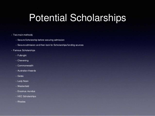 100 Great Scholarships for Master's Degree Programs