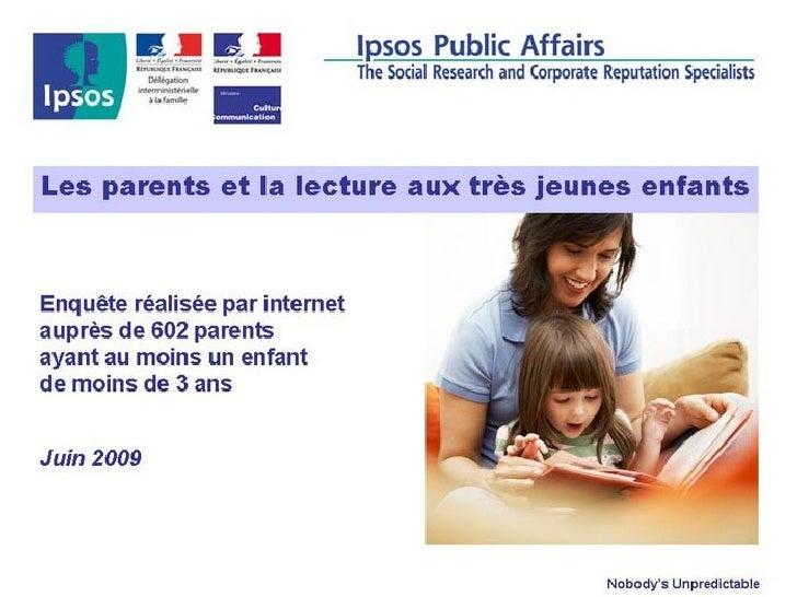 Lecture Aux Jeunes Enfants