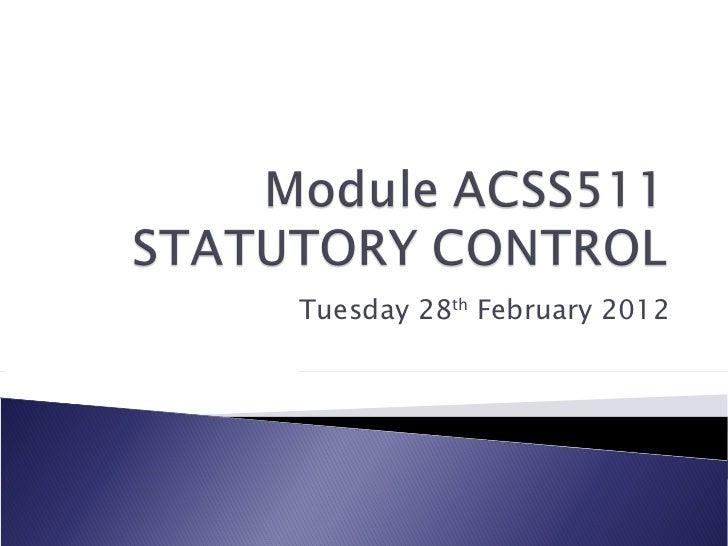 Tuesday 28 th  February 2012
