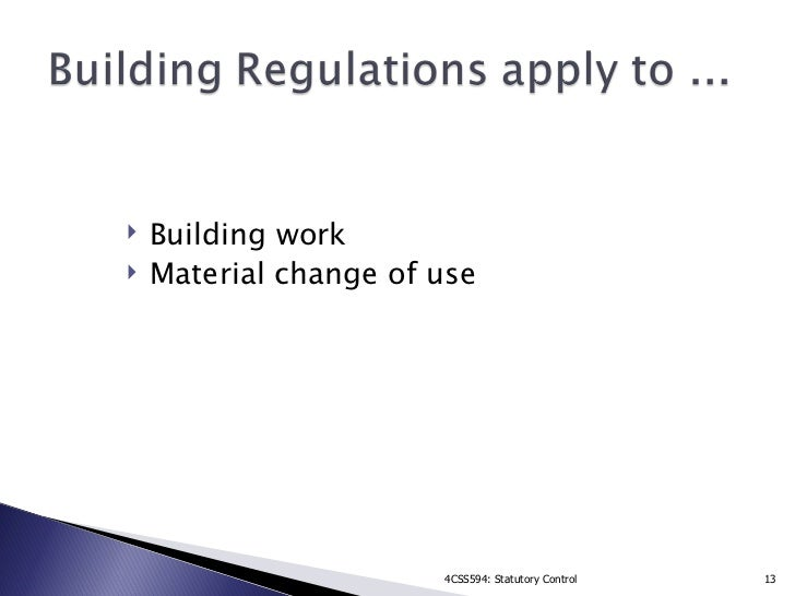 Building Regulations Controlled Fittings
