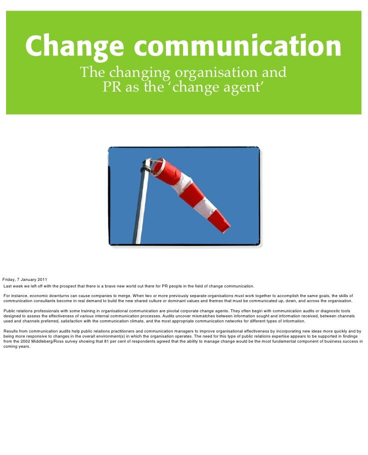 Lecture change communications