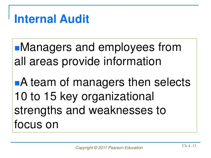 internal mangement An organization's internal environment is composed of the elements within the organization, including current employees, management, and especially corporate cu.