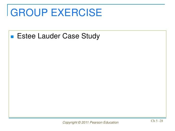 GROUP EXERCISE   Estee Lauder Case Study                Copyright © 2011 Pearson Education   Ch 5 -28