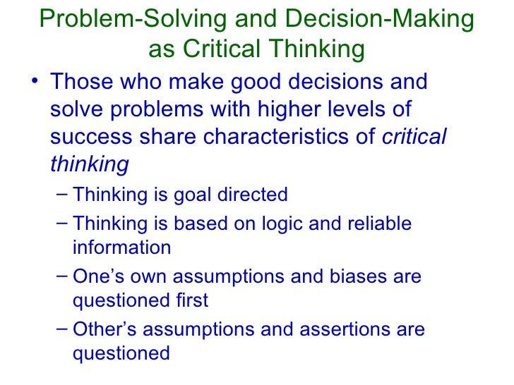 characteristics of critical thinking psychology