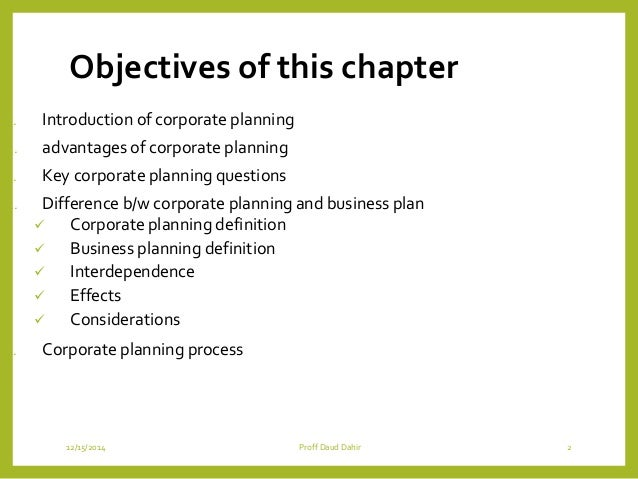 definition of business planning