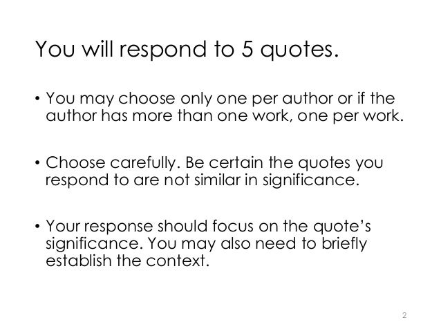 how to write a response to a quote