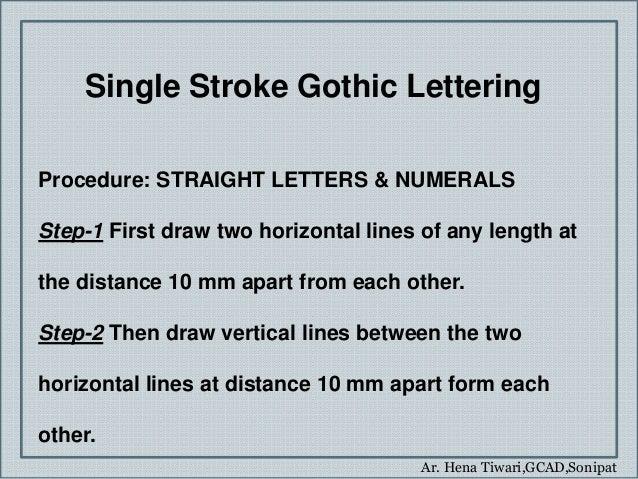 18 Ar Hena TiwariGCADSonipat Single Stroke Gothic Lettering
