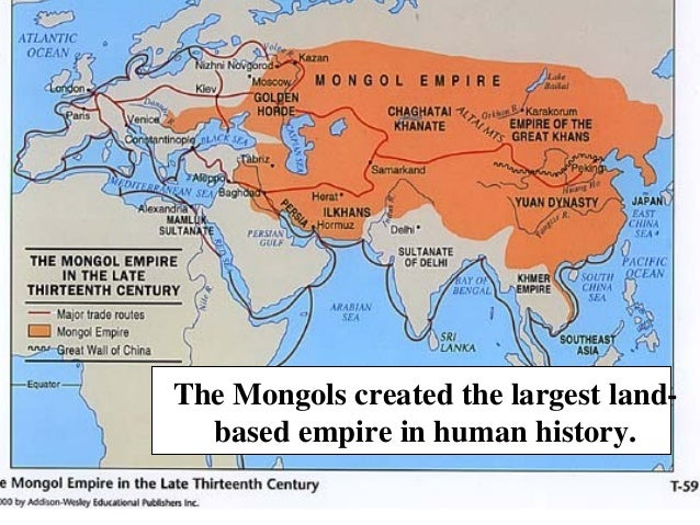 The Mongol invasion of Europe – History of International ...  Mongol Conquest Land