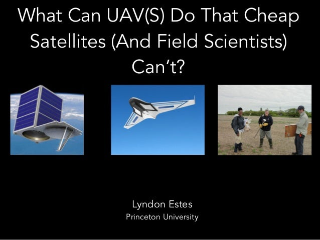 What Can UAV(S) Do That Cheap Satellites (And Field Scientists) Can't? Lyndon Estes Princeton University