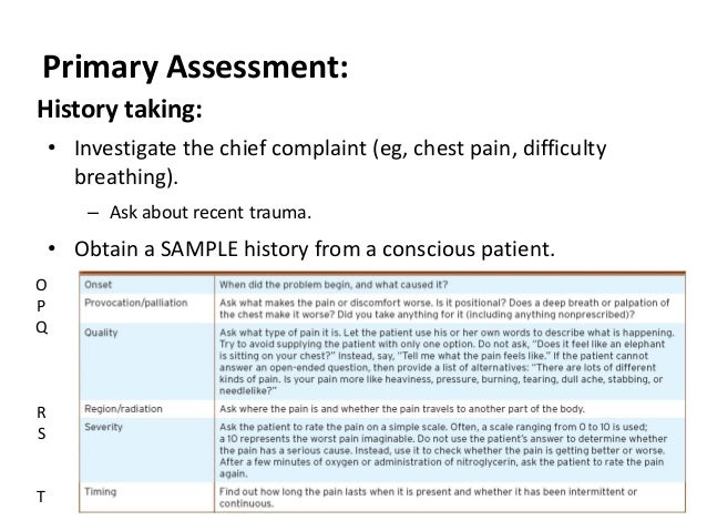 sample patient assessment Lecture nine cardiovascular_emeregencies