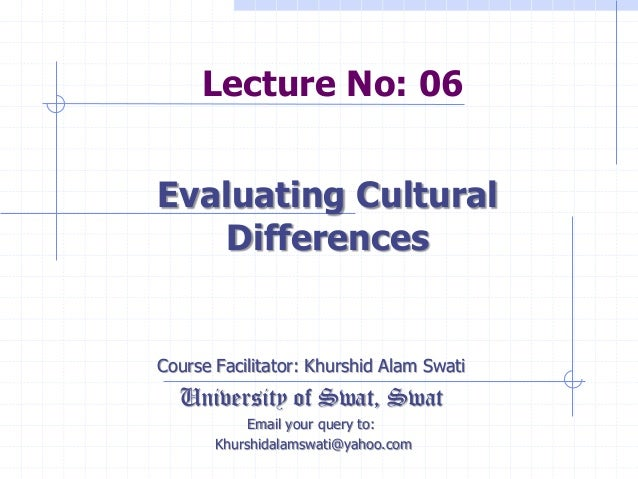 Lecture No: 06 Course Facilitator: Khurshid Alam Swati University of Swat, Swat Email your query to: Khurshidalamswati@yah...