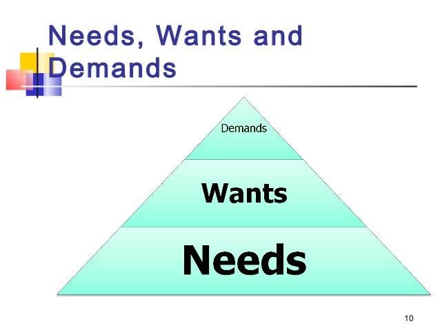 Need vs. Wants in Marketing