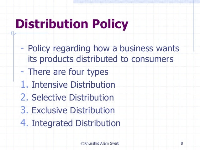 Exclusive distribution advantages disadvantage
