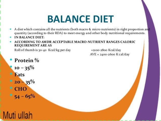 7 Components of a Balanced Diet