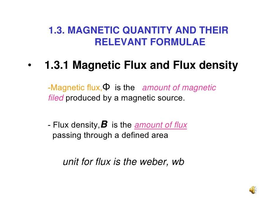 magnetic flux density formula - photo #16