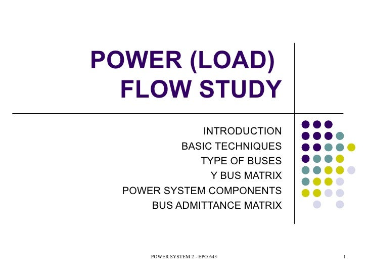 Load Flow or Power Flow Analysis | Electrical4U