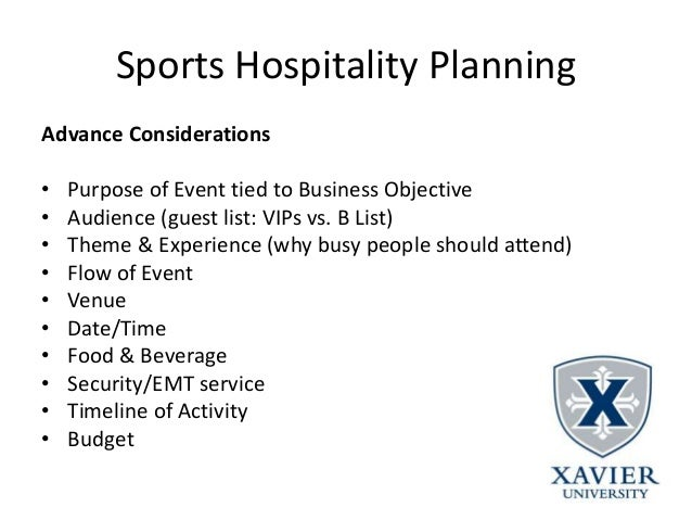 Worksheets Budget For Sports Events sports events management lecture notes hospitality 3 14 planning post event