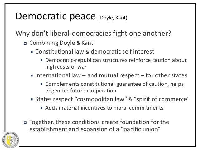 Democratic peace thesis liberalism