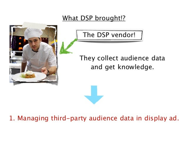 What DSP brought!? The DSP vendor! They collect audience data and get knowledge.  1. Managing third-party audience data in...