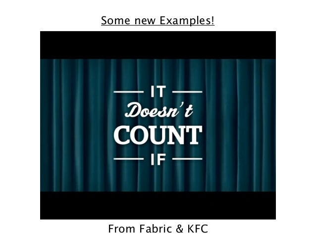 Some new Examples!  From Fabric & KFC