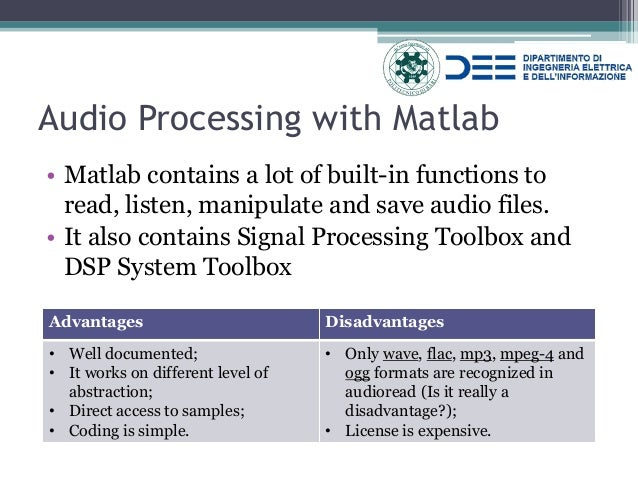 Introductory Lecture to Audio Signal Processing