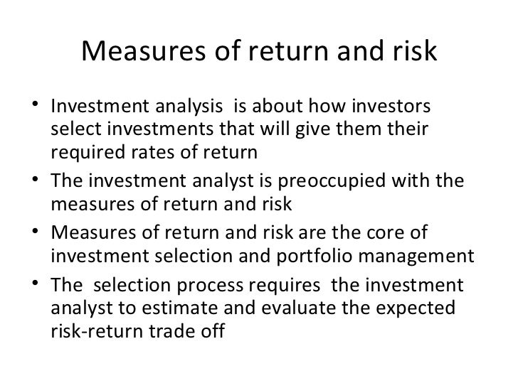 Lecture One Thursday On Investment Analysis Mba