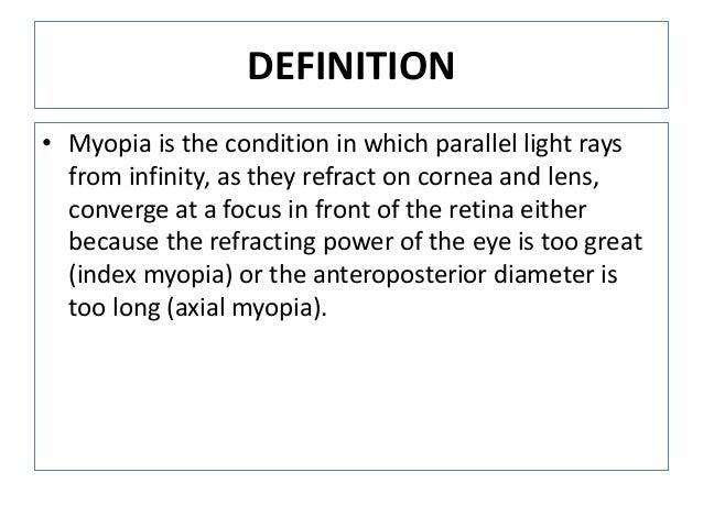 Lecture on Myopia For 4th Year MBBS Undergraduate Students By Prof. Dr. Hussain Ahmad Khaqan Slide 2