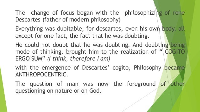 an analysis of descartess philosophy cognito ergo sum Cogito ergo sum essay examples 14 total results a summary of descartes' proof of the existence of god 1,328 words  1,089 words 2 pages understanding the cognito ergo sum in cartesian philosophy 1,042 words 2 pages an analysis of descartes' meditation in 'cogio ergo sum' 1,456 words 3 pages.