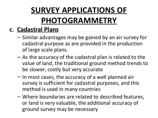SURVEY APPLICATIONS OF PHOTOGRAMMETRY G Terrestrial