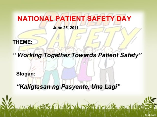 Lecture patient safety Slide 2