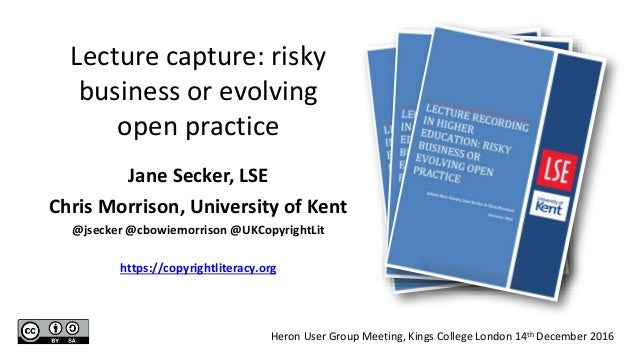 Jane Secker, LSE Chris Morrison, University of Kent @jsecker @cbowiemorrison @UKCopyrightLit https://copyrightliteracy.org...