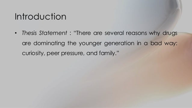 thesis statement teenage alcoholism